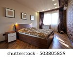 bedroom with a beautiful... | Shutterstock . vector #503805829