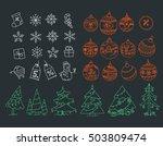 christmas symbols vector... | Shutterstock .eps vector #503809474