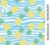 pineapple   vector  illustration | Shutterstock .eps vector #503814649