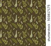 floral vector seamless pattern. ...   Shutterstock .eps vector #503817175