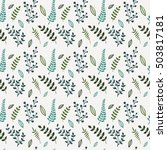 floral vector seamless pattern. ...   Shutterstock .eps vector #503817181