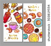 two vertical food drink menu... | Shutterstock .eps vector #503819554