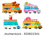 four isolated cartoon colorful... | Shutterstock .eps vector #503822341