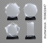 glass trophy award. vector... | Shutterstock .eps vector #503822647