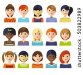 fifteen isolated colorful kids... | Shutterstock .eps vector #503822989