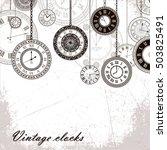 Vector Vintage Clock Dials...