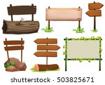different design of wooden... | Shutterstock .eps vector #503825671