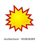 bursting speech star  starburst ... | Shutterstock .eps vector #503828389