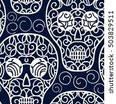 skulls seamless background... | Shutterstock .eps vector #503829511