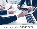business adviser analyzing... | Shutterstock . vector #503832424