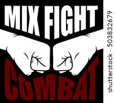 mix fight combat emblem  ... | Shutterstock .eps vector #503832679