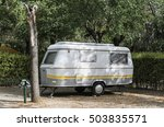 Small Caravan On Campsite....