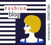 fashion blog concept. beautiful ... | Shutterstock .eps vector #503837284