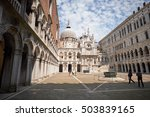 inner yard of doge's palace at...