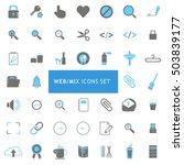 web mix blue and gray icon set