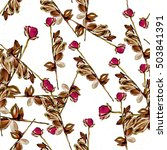 roses.seamless background.... | Shutterstock . vector #503841391