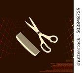 barber shop flat paper cut... | Shutterstock .eps vector #503848729
