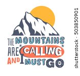hand drawn mountains logo. ski... | Shutterstock .eps vector #503850901