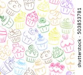 cupcake  cupcakes muffin fairy... | Shutterstock .eps vector #503853781