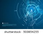 touch the future interface... | Shutterstock .eps vector #503854255