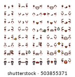collection of cute lovely... | Shutterstock .eps vector #503855371