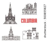 icons of columbian famous... | Shutterstock .eps vector #503855827