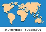 extremely simplified world map... | Shutterstock .eps vector #503856901