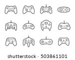 gamepads vector icon set in... | Shutterstock .eps vector #503861101