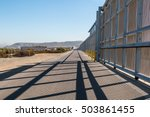 the us mexico border wall... | Shutterstock . vector #503861455