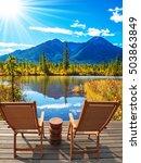indian summer in the rocky... | Shutterstock . vector #503863849