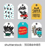 vector party badge design.... | Shutterstock .eps vector #503864485