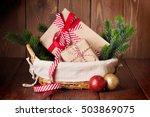 Christmas Gift Boxes And Fir...