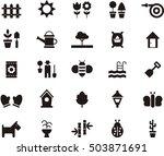 garden icons | Shutterstock .eps vector #503871691