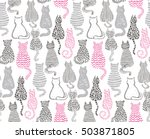 vector seamless pattern with... | Shutterstock .eps vector #503871805