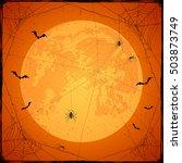 abstract halloween background... | Shutterstock . vector #503873749