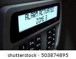 a 3d render of a home security... | Shutterstock . vector #503874895