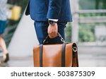 closeup of a businessman... | Shutterstock . vector #503875309