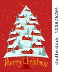 christmas greeting card with... | Shutterstock .eps vector #503876284