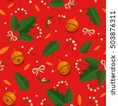 christmas seamless pattern with ... | Shutterstock .eps vector #503876311