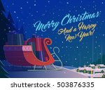 merry christmas greeting card... | Shutterstock .eps vector #503876335