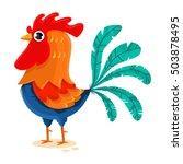 rooster cartoon vector... | Shutterstock .eps vector #503878495