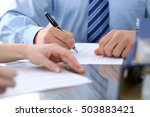 bookkeepers or financial... | Shutterstock . vector #503883421