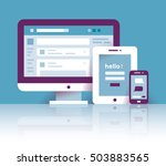 computer  tablet and mobile... | Shutterstock .eps vector #503883565