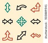 arrows icon  next step vector... | Shutterstock .eps vector #503889541