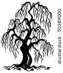 Willow Tree Silhouette   Vecto...