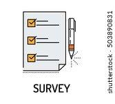 survey line icon | Shutterstock .eps vector #503890831