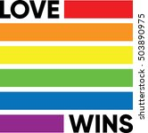love wins | Shutterstock .eps vector #503890975
