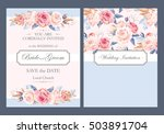 vintage wedding invitation | Shutterstock .eps vector #503891704