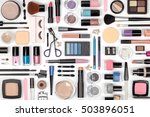 makeup cosmetics  brushes and... | Shutterstock . vector #503896051
