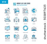 color flat line icons set of... | Shutterstock .eps vector #503897635